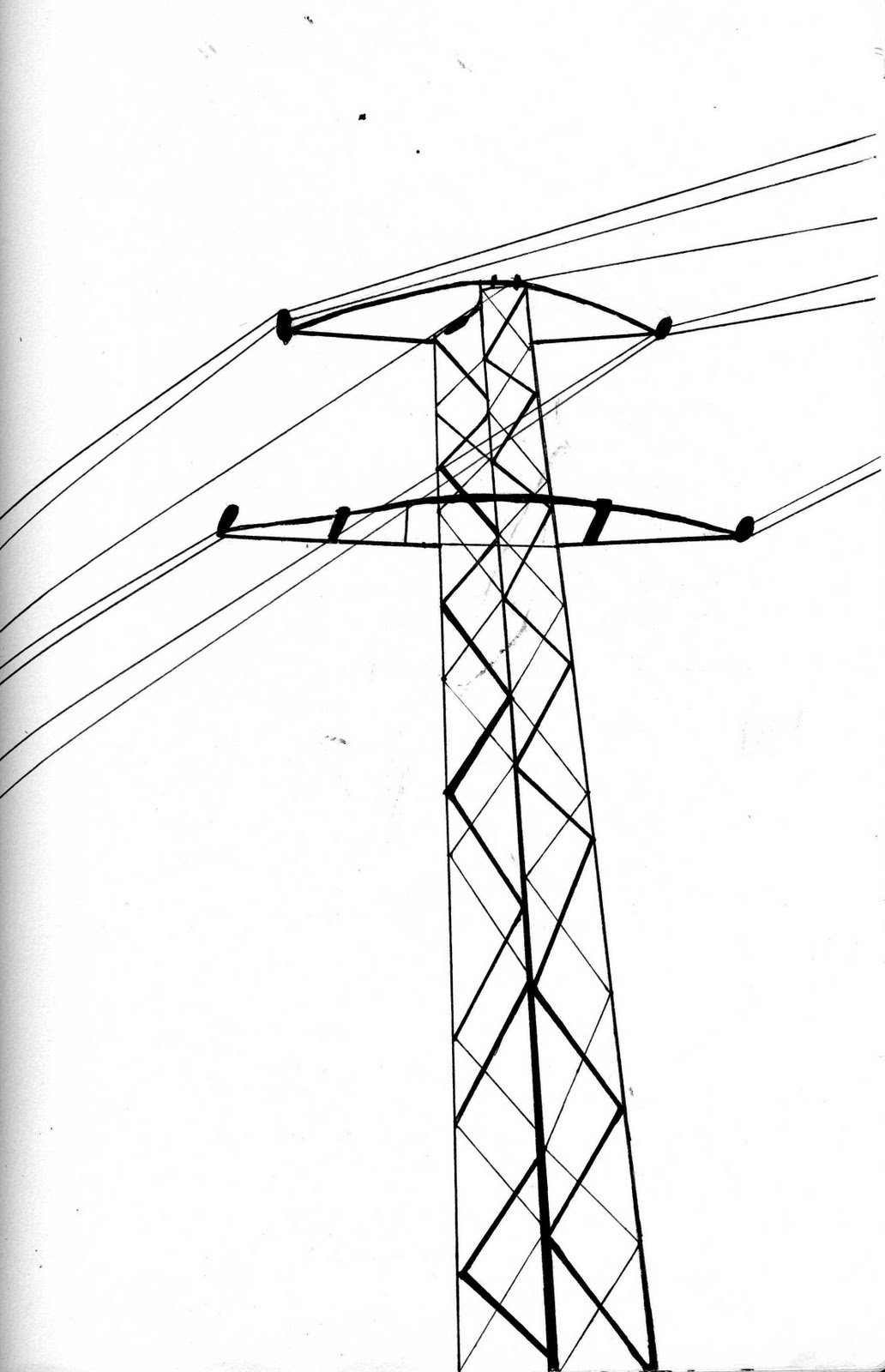 Utility Pole Drawing at GetDrawings.com   Free for personal use ...