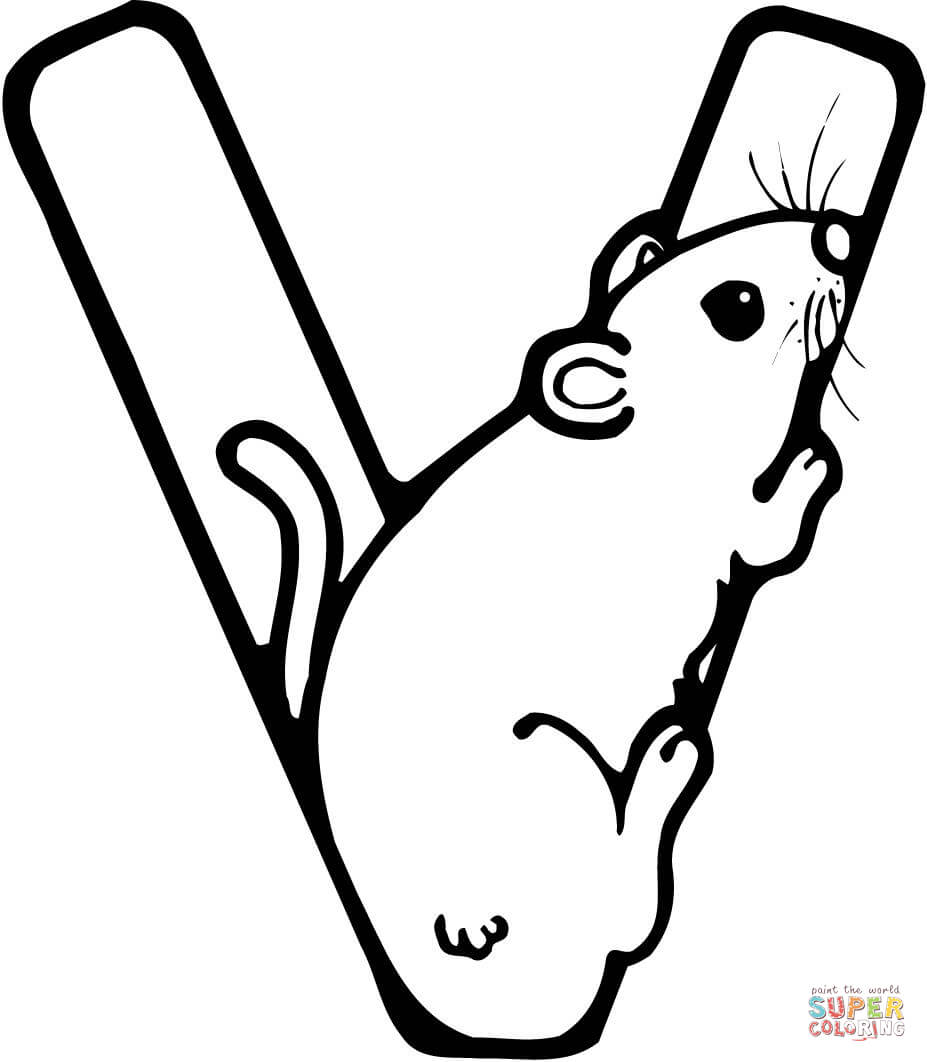 927x1062 Letter V Coloring Pages Free Coloring Pages