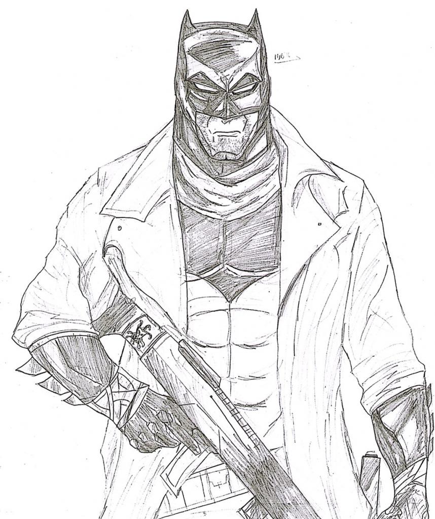 858x1024 Batman Superman Pencil Drawing