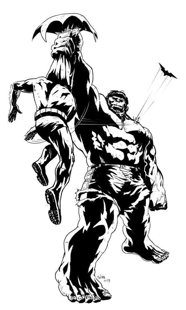 600x995 Hulk Vs Batman By Sinakazemian