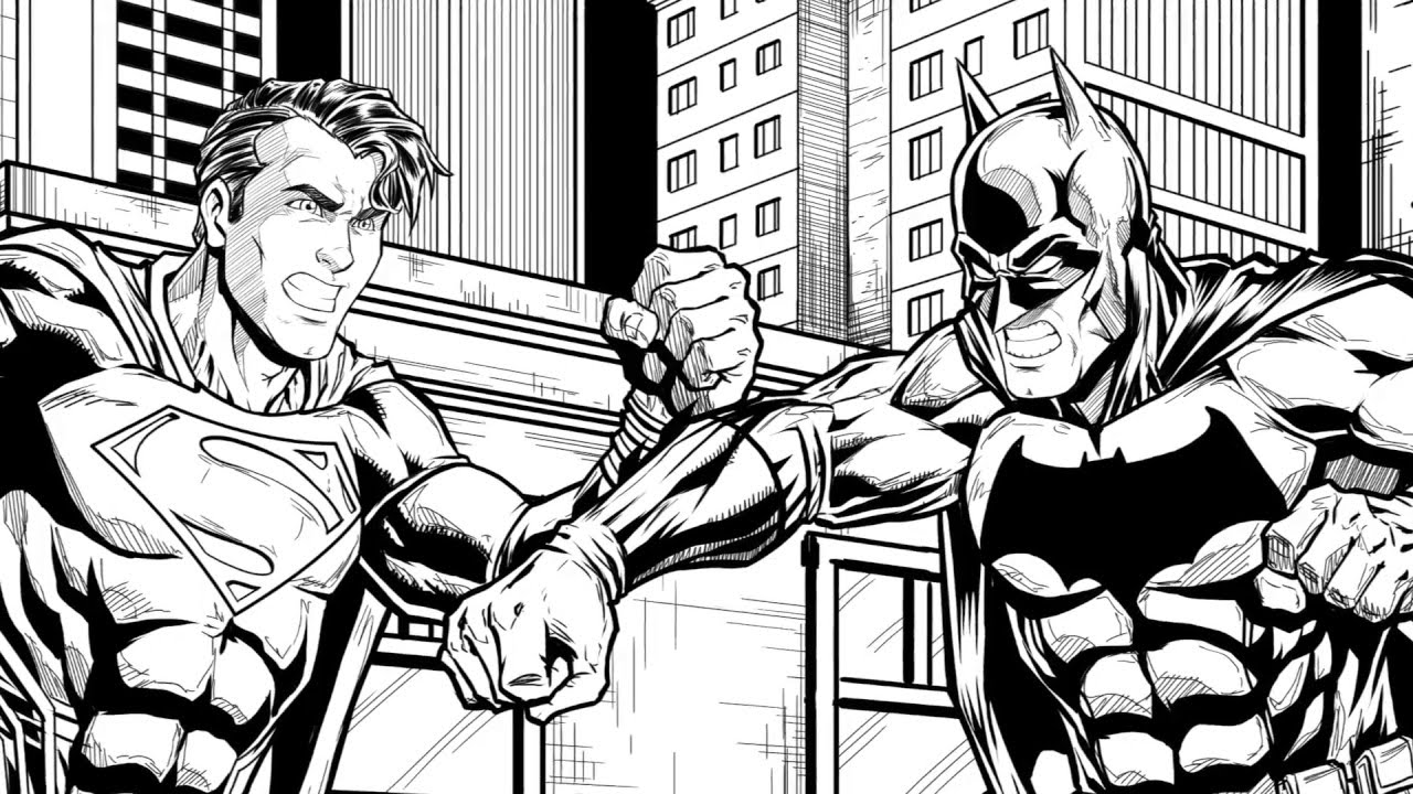 1280x720 Drawing Batman Vs Superman Dawn Of Justice Speed Drawing