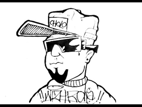 480x360 Lets Start Drawing A Gangster Character With A Cap And Glasses