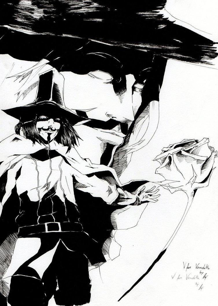 754x1059 V For Vendetta By Adren97