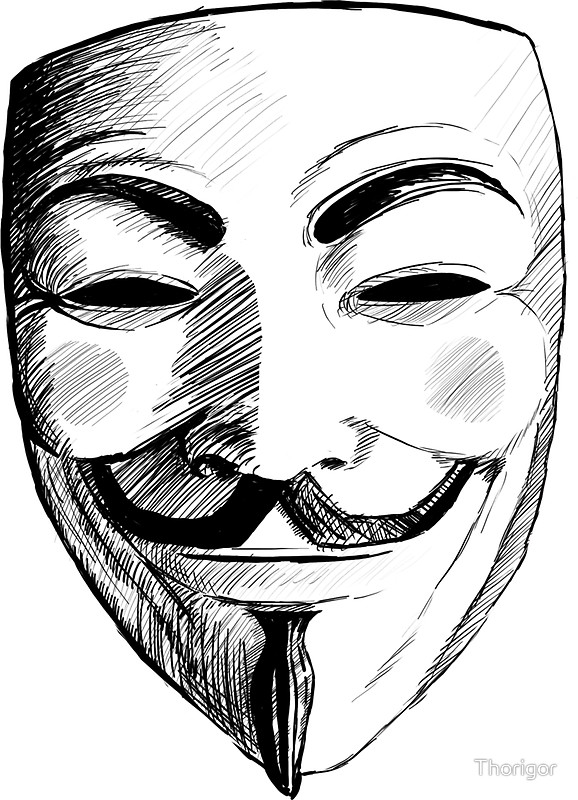 578x800 Drawn Mask V For Vendetta