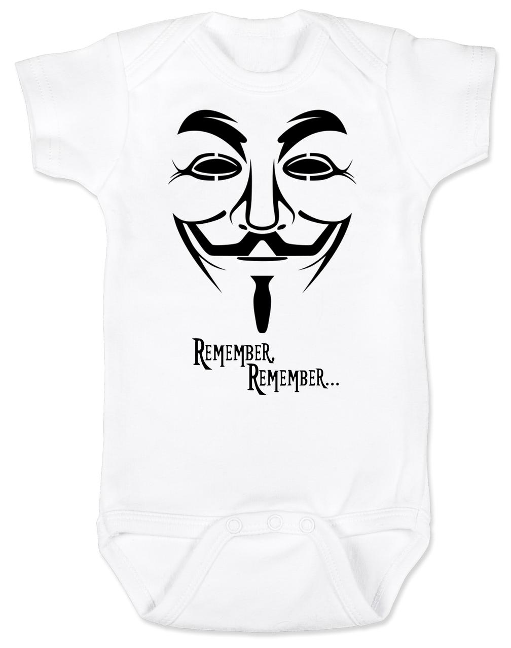 1008x1280 V For Vendetta Remember Baby Onesie