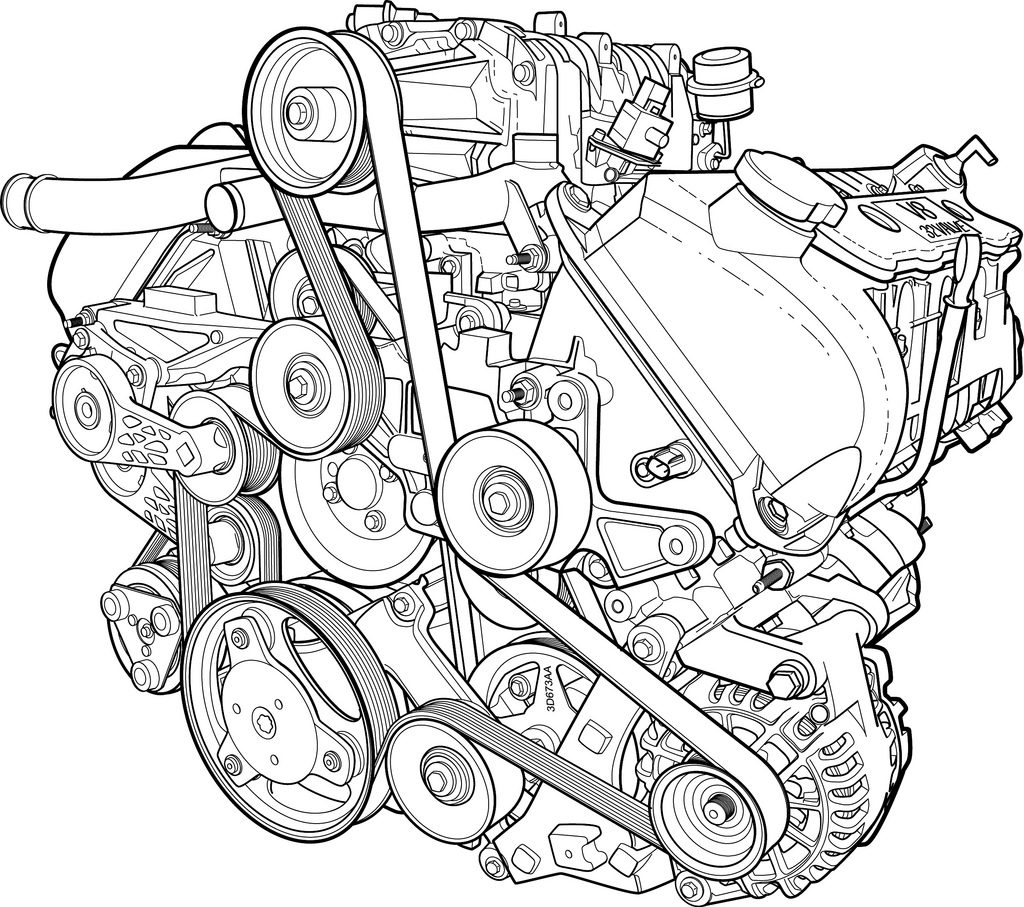 V8 Engine Drawing At Free For Personal Use Lexus Ls400 Diagram Sensor Additionally 2002 Rx300 Intake 1024x907 Images