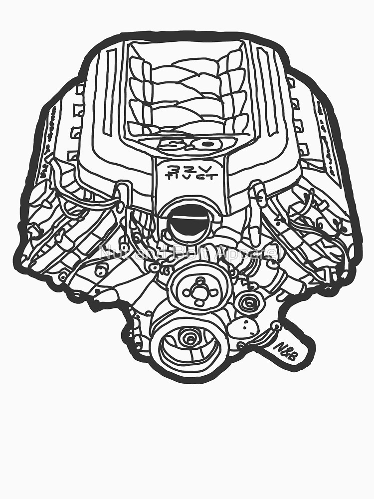 V8 Engine Drawing At Getdrawings Com