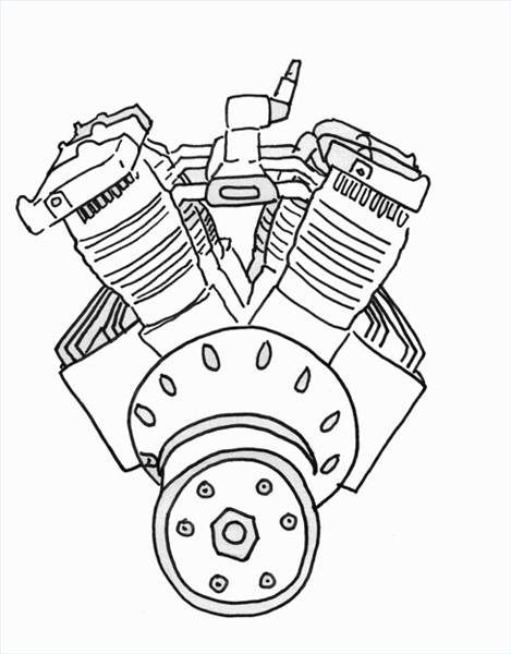 469x600 How To Draw A Car Engine (With Pictures) Ehow