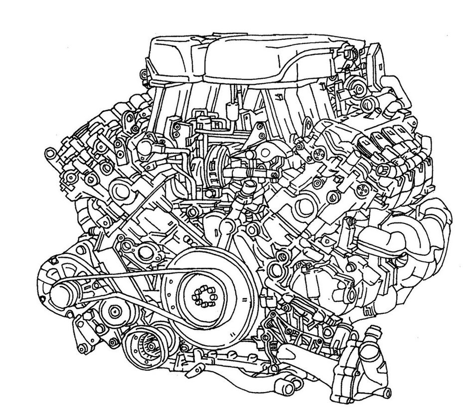 951x840 4.2l V8 Engine By Jitseen