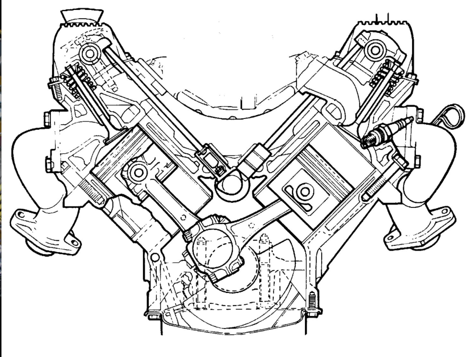 1624x1234 A Sectional View Of The Rover V8 Engine. A Masterpiece Of Design