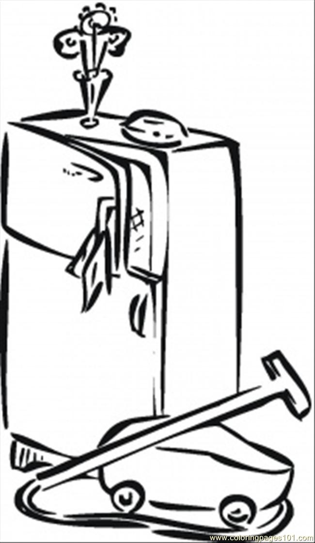 650x1120 Fridge And Vacuum Cleaner Coloring Page