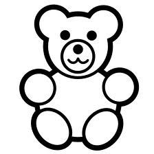 224x224 Simple Teddy Bears To Colour, Stitch, Collage Or Draw Early Play