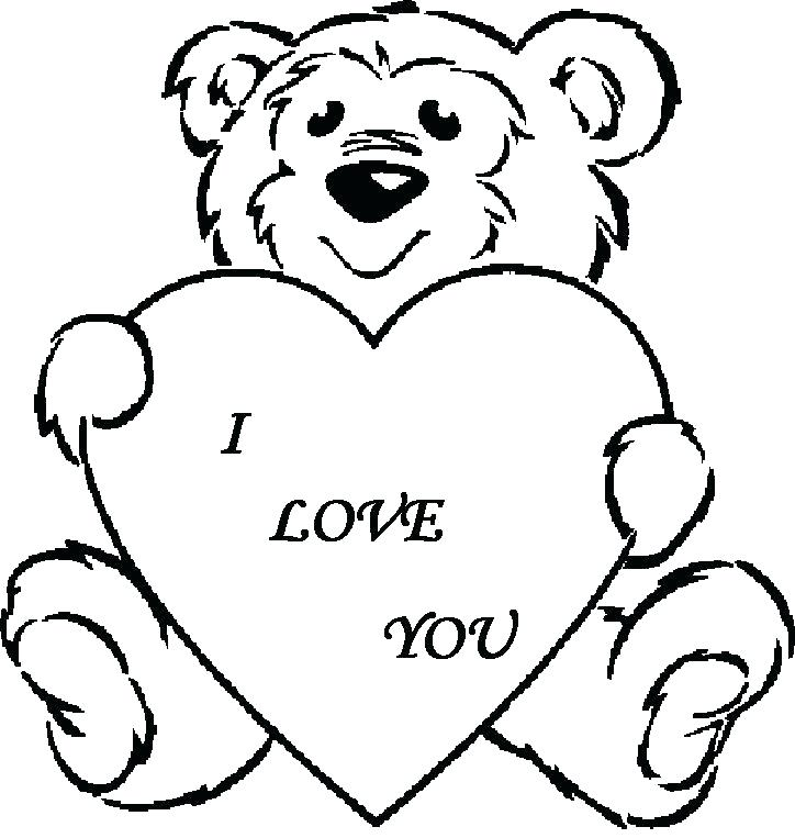 724x763 Valentine Bear Coloring Pages My Love For You Teddy Bear Coloring