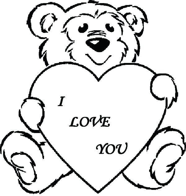 600x632 Valentine Bear Coloring Pages Valentines Day Bear Coloring Pages