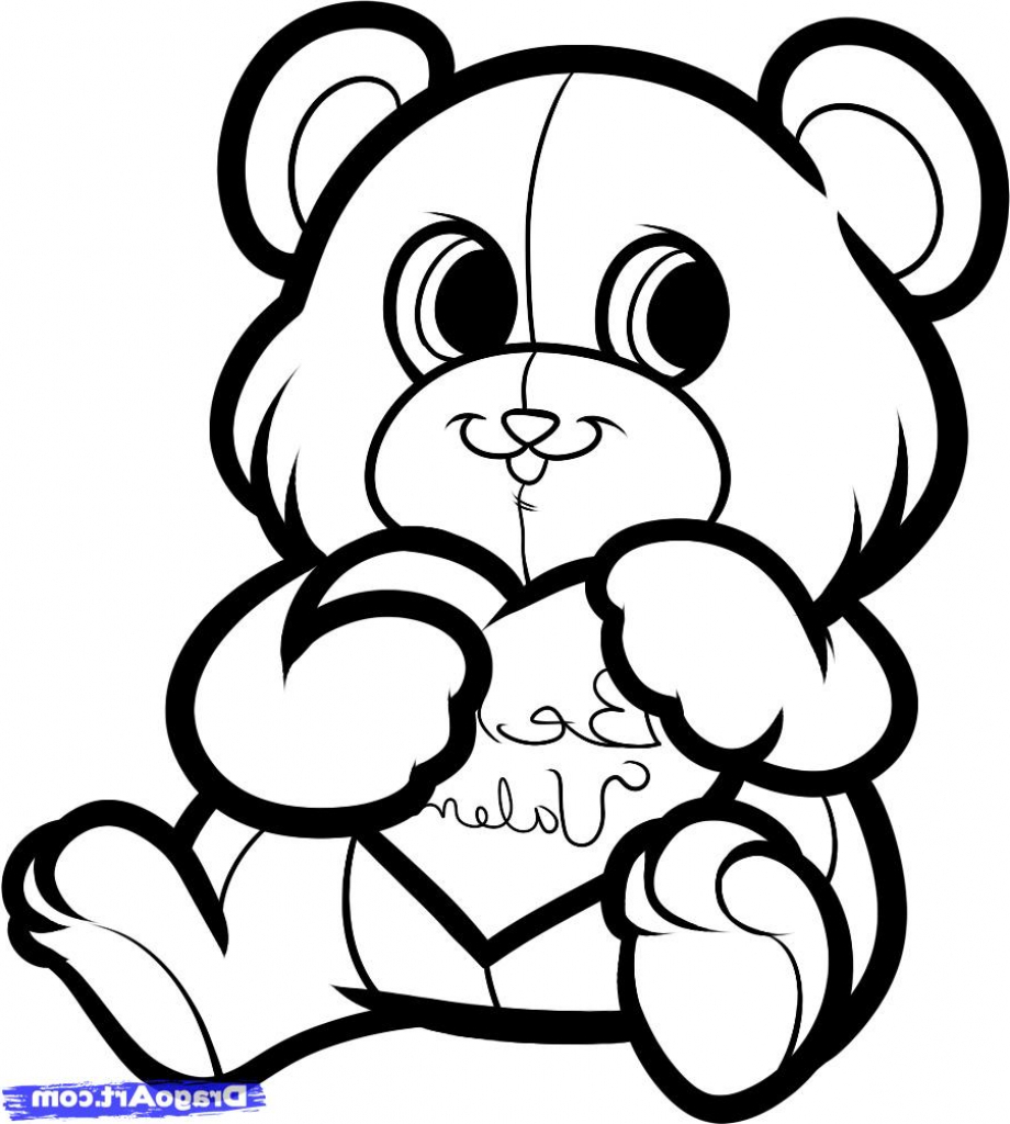 920x1024 Cute Drawings For Girlfriend How To Draw A Valentines Bear