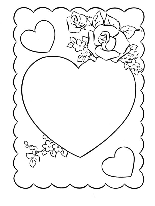 615x820 Print The Valentines Day Cards Coloring And Then Fill It With