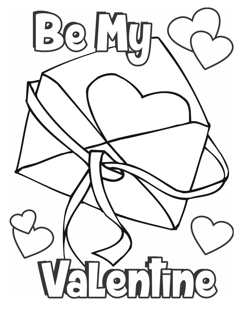 783x997 Valentine Coloring Page Card