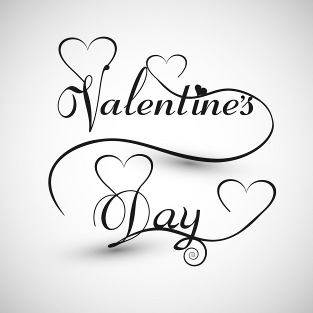 626x626 Valentines Day Card In Monochromatic Style Vector Free Download