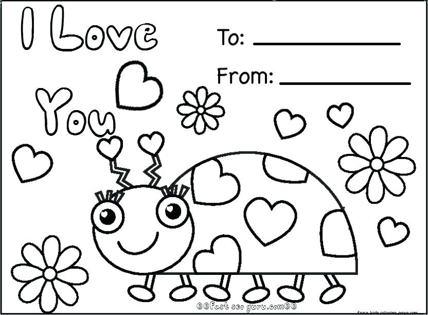 832x612 Valentines Coloring Cards