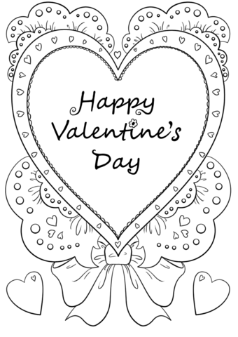 340x480 Happy Valentine39s Day Coloring Page Free Printable Pages