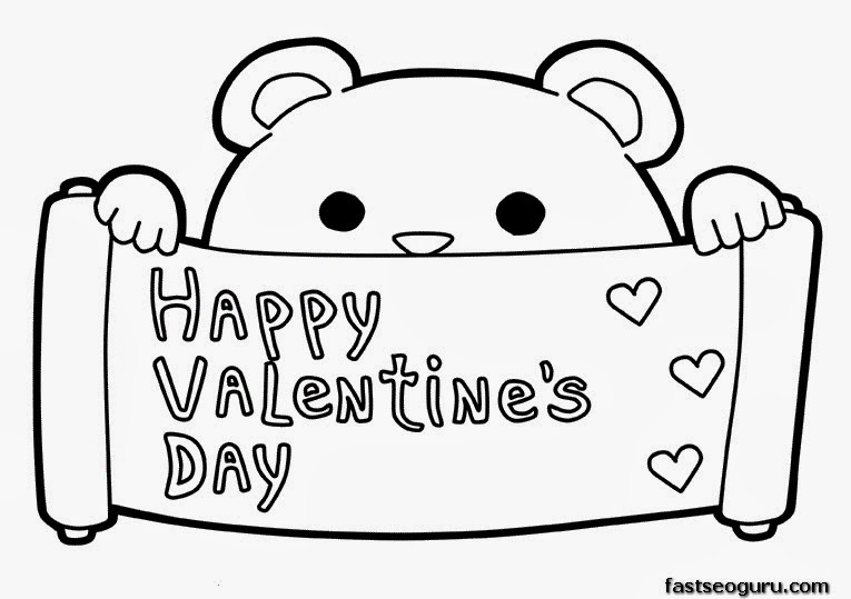 765x539 Happy Valentines Day Coloring Pages