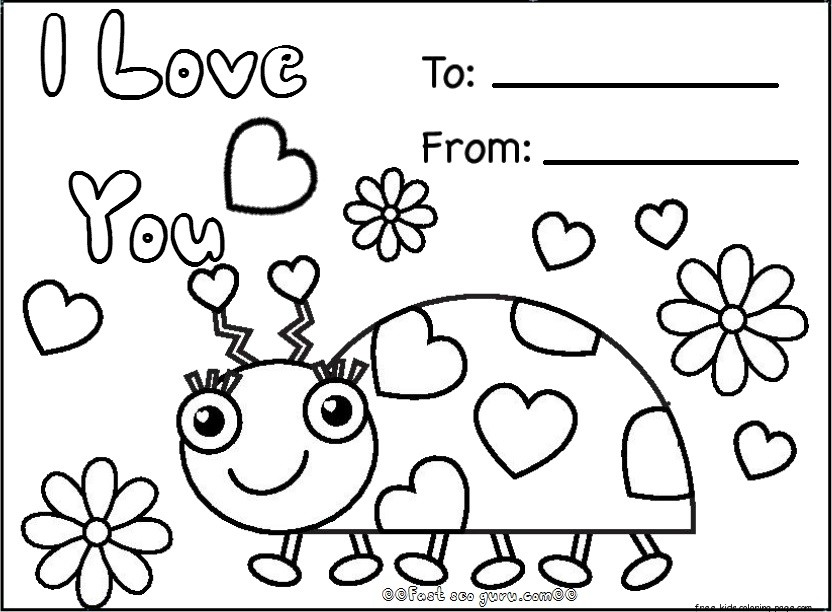 832x612 Coloring Pages Valentines Cards Printable Cooloring Free Printable