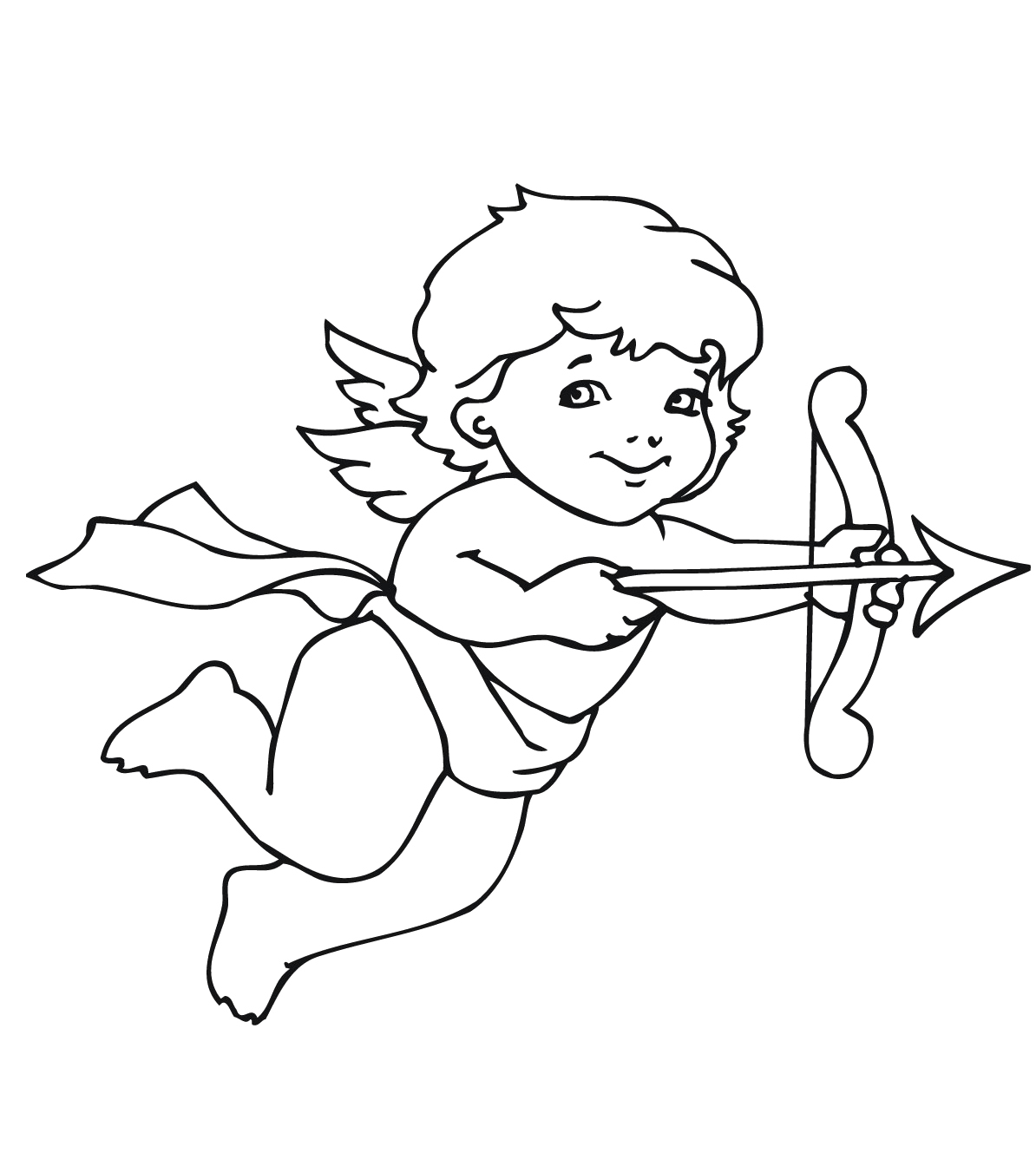 1194x1344 Cute Cupid Coloring Pages
