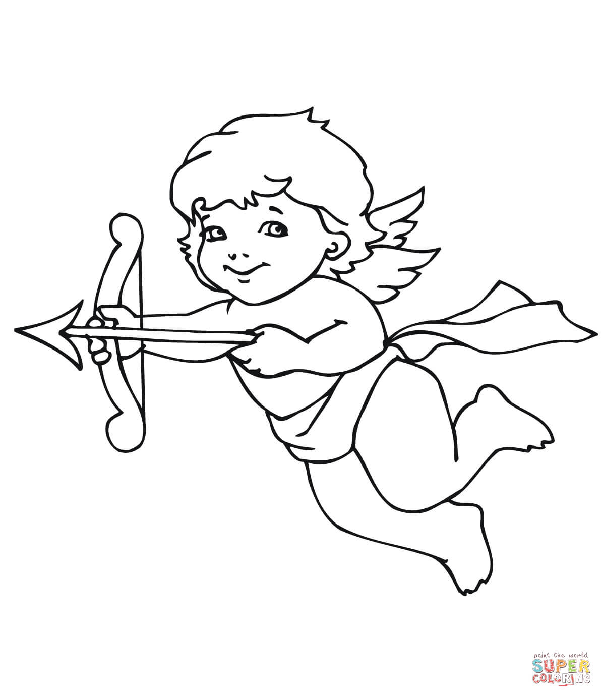 1194x1382 Cute Valentine Cupid Coloring Page Free Printable Coloring Pages