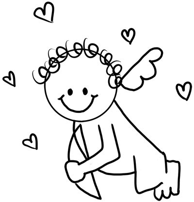 400x417 Drawing Cupid With Easy Step By Step Instructions For Preschoolers