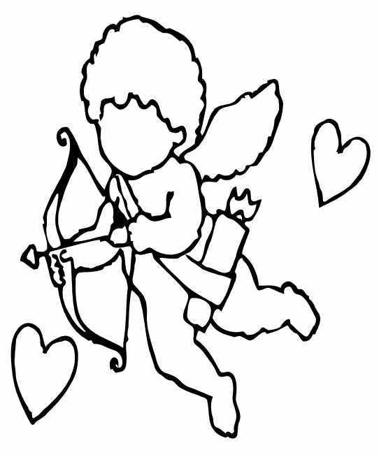 542x654 Valentine's Day Coloring Pages