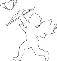 200x212 Cupid Valentine Coloring Page Coloring Valentine's Day