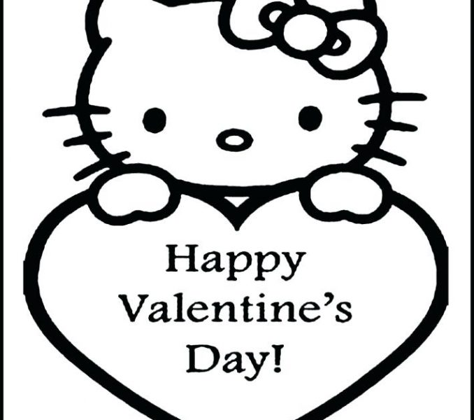 678x600 Valentines Day Coloring Pages Kids Hello Kitty Valentines Coloring