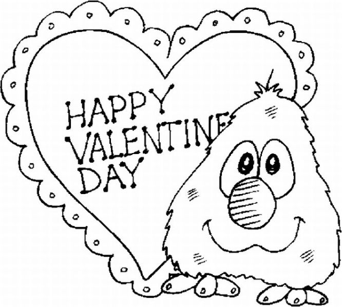 666x598 Free Printable Valentine Day Coloring Pages Title= Coloring