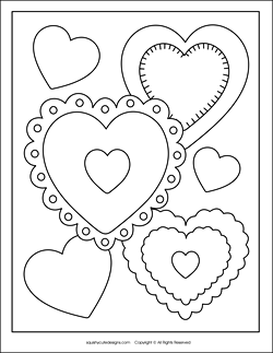 250x323 Free Valentine Coloring Pages