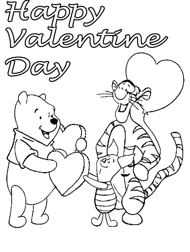 776x1028 Winnie The Pooh Valentine Coloring Superb Disney Valentines Day