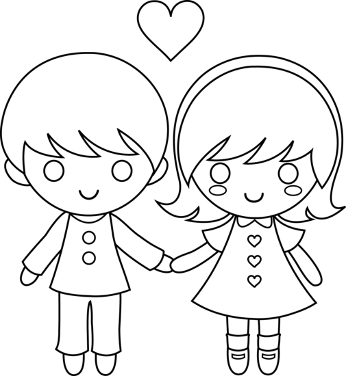 505x550 Colorable Valentines Day Kids