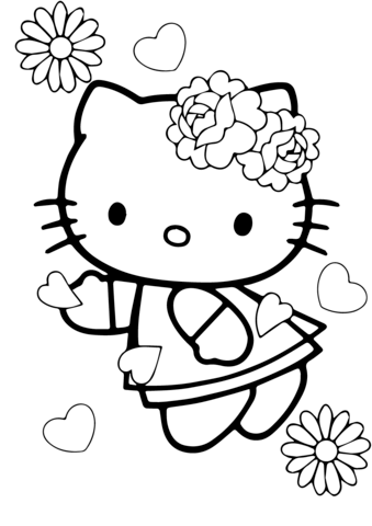 339x480 Valentine39s Day Hello Kitty Coloring Page Free Printable