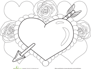 670x820 Valentine Day Hearts Coloring Book Pages 301x227 Heart Worksheet