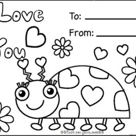 268x268 Coloring Pages Valentines Day Cards Archives