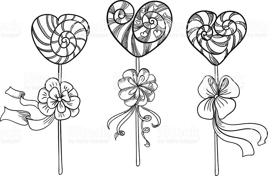 1024x674 Drawn Lollipop Valentines Day