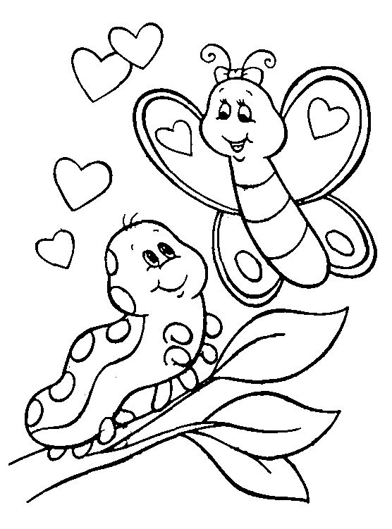 556x751 Free Printable Valentine Coloring Pages For Kids Page