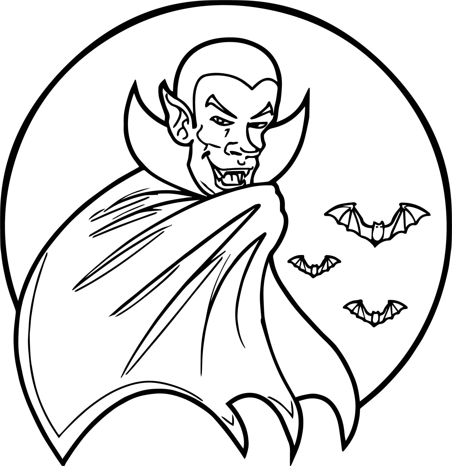 vampire bat coloring page - vampire bat drawing at free for personal