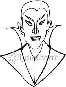 Vampire Face Drawing