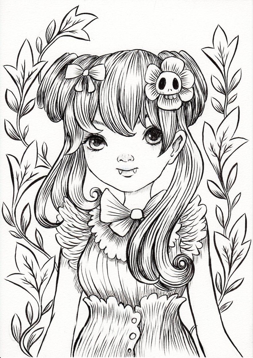 884x1250 Vampire Girl By Jeremiah Ketner, In Kyle Davis's Other Art Comic