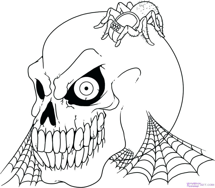 878x770 Free Coloring Pages Adult Scary Printable Coloring Pages Adult