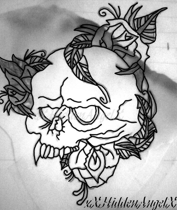Vampire Skull Drawing