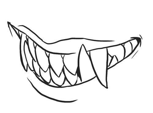 Vampire Teeth Drawing