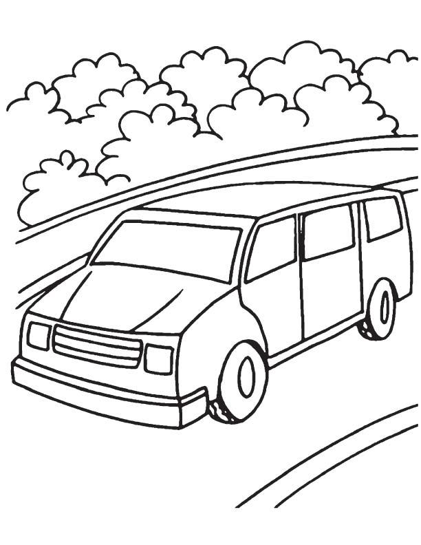 612x792 Mini Van Coloring Page Download Free Mini Van Coloring Page