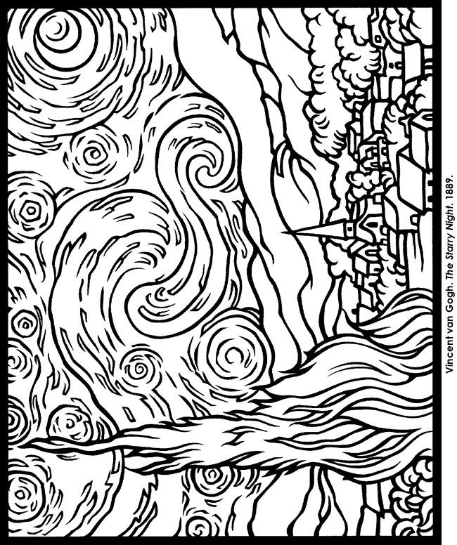 650x776 Pioneering Vincent Van Gogh Coloring Pages Many Interesting