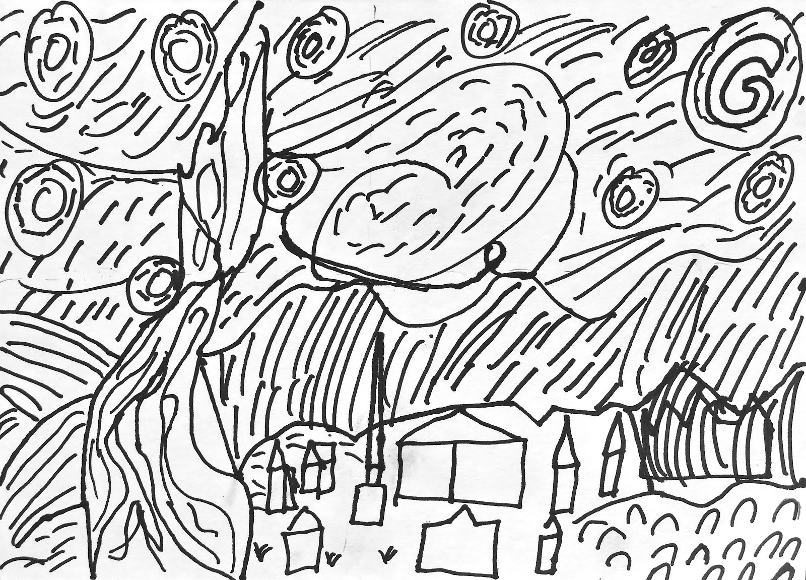 Van Gogh Drawing at GetDrawings.com | Free for personal use Van Gogh ...